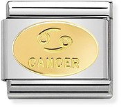 Nomination Gold Cancer Oval Zodiac Charm