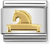 Nomination Gold Horse at Fence Charm