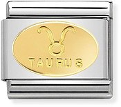 Nomination Gold Taurus Oval Zodiac Charm