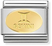 Nomination Gold Gemini Oval Zodiac Charm