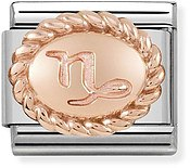 Nomination Rose Gold Capricorn Oval Zodiac Charm