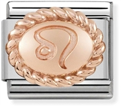 Nomination Rose Gold Leo Oval Zodiac Charm