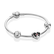 PANDORA Disney Minnie & Mickey Kiss Bracelet
