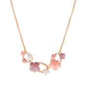 August Woods Blush Circle & Florals Necklace