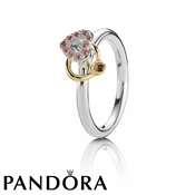 Pandora Pink Heart Halo Ring
