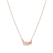 August Woods Pink Moonstone & Rose Gold Circle Necklace