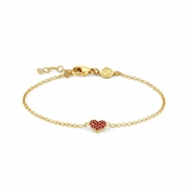Nomination Gioie Gold & Red Heart Bracelet