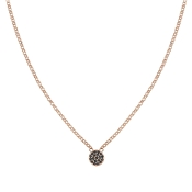 Nomination Gioie Rose Gold & Black Circle Necklace