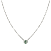 Nomination Gioie Silver & Green Clover Necklace