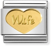 Gold Wife Charm by Nomination