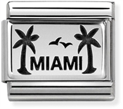 Nomination Oxidised Silver Miami Palm Trees Charm