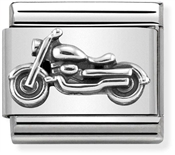 Nomination Oxidised Silver Vintage Bike  Charm