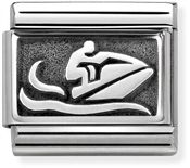 Nomination Oxidised Silver Jetski Charm