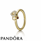 Pandora 14ct Diamond Heart Halo Ring