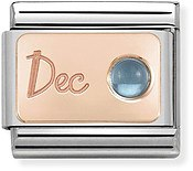 Nomination Rose Gold December Blue Topaz Charm