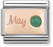 Nomination Rose Gold May Emerald Charm