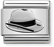Nomination Silver Oxidised Panama Hat Charm