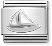 Nomination Silver Sail Boat Charm