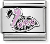 Nomination Sparkling Pink Flamingo Charm