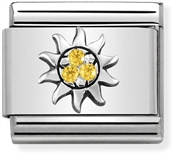 Nomination Sparkling Yellow Sun Charm