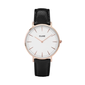 CLUSE La Bohème Rose gold White Black Lizard Watch