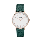 CLUSE La Bohème Rose gold White Emerald Lizard Watch