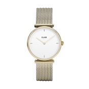 CLUSE Triomphe Gold Mix Mesh Watch