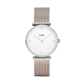 CLUSE Triomphe Silver Mix Mesh Watch
