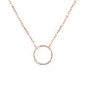 August Woods Rose Gold Fine Circle Necklace