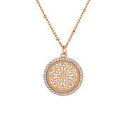 August Woods Rose Gold Arabesque Necklace