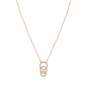 August Woods Rose Gold Interlocking Circles Necklace