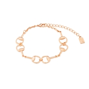 August Woods Rose Gold Double Linked Bracelet