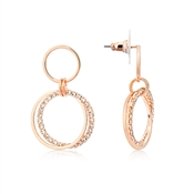 Rose Gold Sparkling Circles Earrings by August Woods