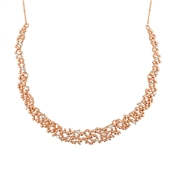 August Woods Crystal Touch Rose Gold Necklace