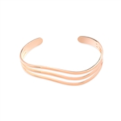 August Woods Rose Gold Curved Wave Bangle