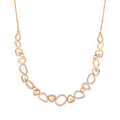 August Woods Rose Gold Open Circle Necklace