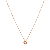 August Woods Rose Gold Pearl Shell Necklace