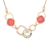 August Woods Rose Gold & Coral Necklace