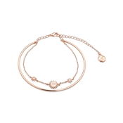 Dirty Ruby Rose Gold Layer CZ Aquarius Bracelet