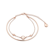 Dirty Ruby Rose Gold Layer CZ Capricorn Bracelet