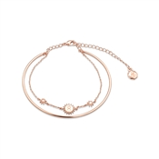 Dirty Ruby Rose Gold Layer CZ Taurus Bracelet