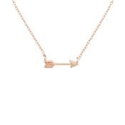 Dirty Ruby Rose Gold CZ Bow Necklace