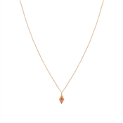 Dirty Ruby Rose Gold Pink CZ Kite Necklace