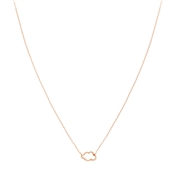 Dirty Ruby Rose Gold CZ Open Cloud Necklace