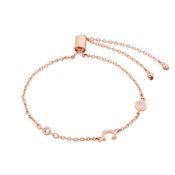 Dirty Ruby Rose Gold Letter C CZ Bracelet