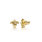 Pandora Shine Heart & Bee Stud Earrings