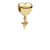 PANDORA Shine Heart & Bee Charm