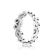 PANDORA Heart Swirls Band Ring