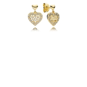 Pandora Shine Honeycomb Lace Drop Earrings