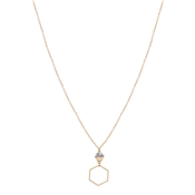Dirty Ruby Gold Howlite Hexagon Necklace